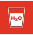 The liquid in glass icon Water and drink aqua vector image