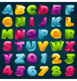 Colorful 3D Alphabet and Numbers vector image vector image