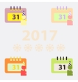 collection of 31st of december calendar vector image