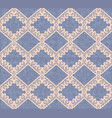 violet canvas seamless pattern beige rhombus vector image vector image