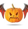angry pumpkin2 vector image vector image