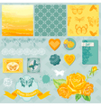 Design Elements - Ombre Butterflies Theme vector image vector image