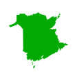 Map of New Brunswick vector image vector image