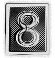 Polka Dot Font NUMBER 8 vector image vector image
