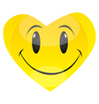 smiley heart vector image vector image