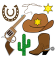 cowboy design elements vector image