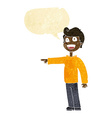 cartoon man pointing and laughing with speech vector image