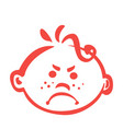 baby emotions- enroged vector image