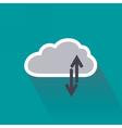 Digital data upload and download on cloud server vector image