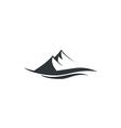 high mountain landscape line logo vector image