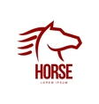 Horse head profile graphic logo template vector image