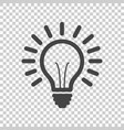 light bulb line icon isolated on isolated vector image
