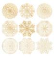 set of 9 hand-drawn arabic mandala on white vector image