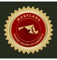 Star label Maryland vector image