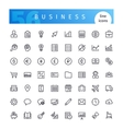 Business Line Icons Set vector image