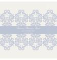 Baroque Vintage Damask card vector image