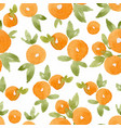 watercolor abstract orange pattern vector image