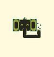 pixel elephant face vector image