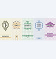 exquisite set of design templates for label and vector image
