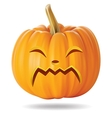 cry pumpkin vector image vector image