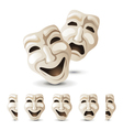 theater mask vector image