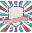old USA colors shield grunge vector image