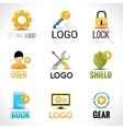 Settings logo set vector image