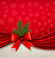 Chistmas holiday background with gift glossy bow vector image
