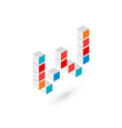 3d cube letter W logo icon design template vector image