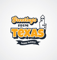 texas vacation greetings theme vector image