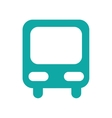 bus station isolated icon vector image