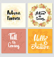 collection of autumn other typography flyer vector image
