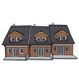 Group houses vector image