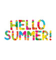 hello summer color rainbow abstract vector image