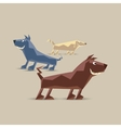 Low polygon dogs set vector image