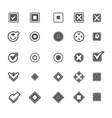 monochrome geometric symbols of item marking vector image