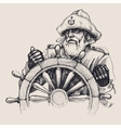 Portrait of a sailor drawing vector image