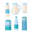 Set of Traditional Dairy Products from Milk vector image