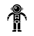 spaceman icon black sign on vector image