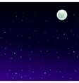 starry night sky background vector image