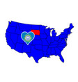 state of south dakota vector image