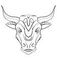 Vintage bull tattoo ink sketch vector image