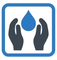 Water Care Flat Icon vector image