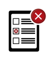 checklist with square cases icon image vector image vector image