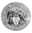 Arkansas Seal vintage engraving vector image vector image