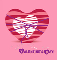 Valentine day one hearts bow vector image