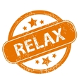 Relax grunge icon vector image