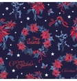 Wreath Christmas Night Flowers Bells vector image vector image