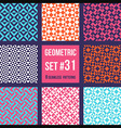 Set of eight geometric patterns vector image vector image