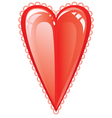 valentine love heart vector image vector image